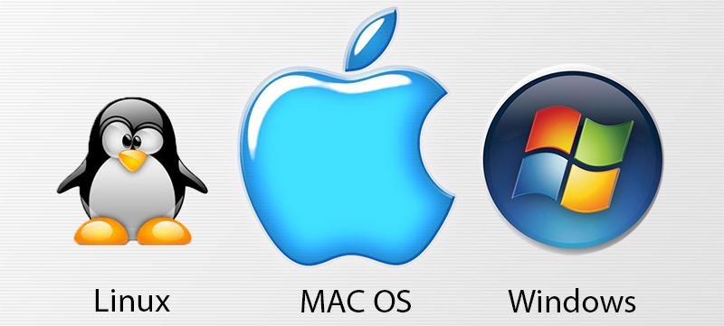 MAC OS X, Linux Ubuntu Mint, Microsoft Windows